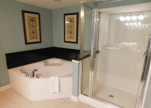 Shower and Tub in 4th Bath