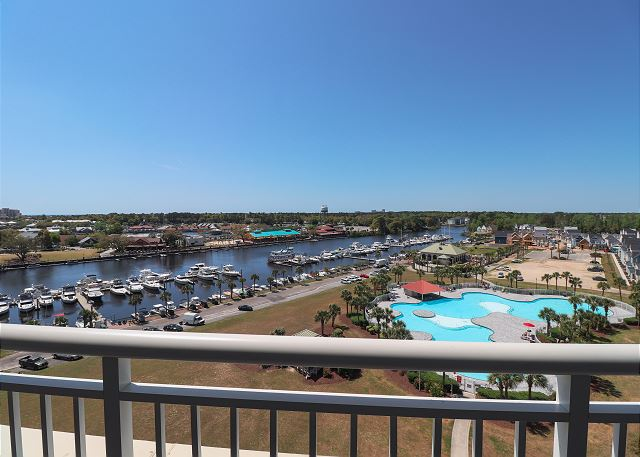 View of Pool and Marina