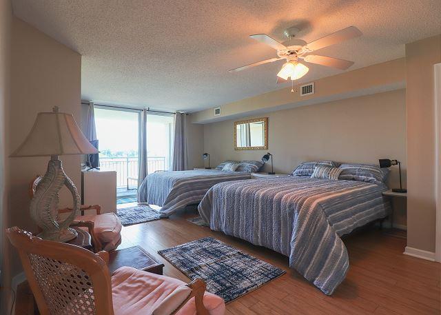 Front Bedroom with 2 Queens