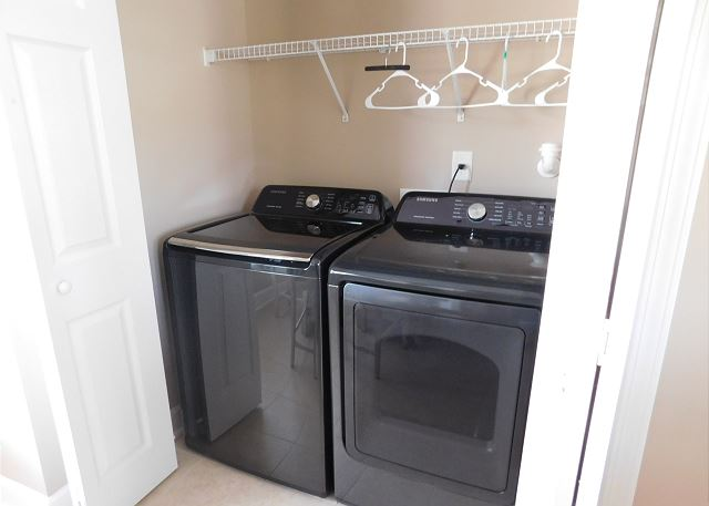 Washer and Dryer in Kitchen Area
