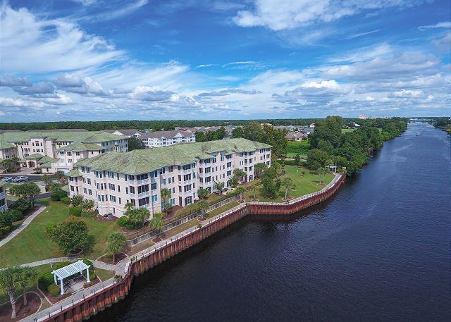 View of Waterway and Edgewater Community