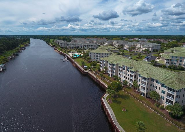 Drone View of Edgewater and Waterway