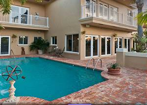 Ft. Lauderdale Waterfront Mansion 5/5 for 14 Heated Pool