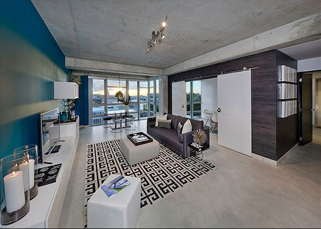 Enjoy this fabulous open floor plan! This is the view from the entry to the unit.