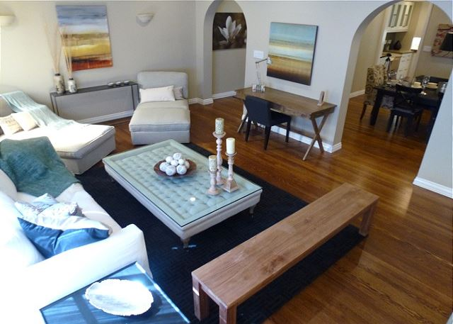 Classic Mediterranean Marina Condo offers a tranquil environment for short term rental.