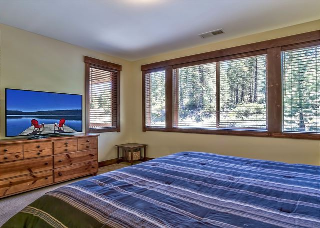 Master bedroom with king bed, TV w/Roku