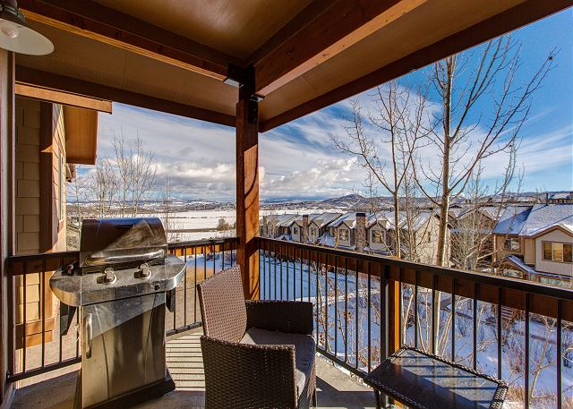 Balcony with BBQ and Seating - Gorgeous Mountain Views!