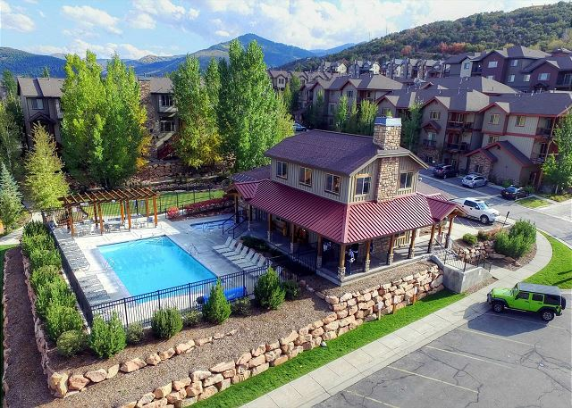 Bear Hollow Village Clubhouse with Pool (summer), Hot Tub (all year), Fitness Room, Fire Pit Area and More!