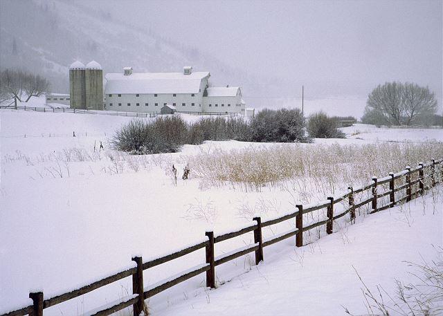 """""""The White Barn"""" - Winter in Park City, Utah"""