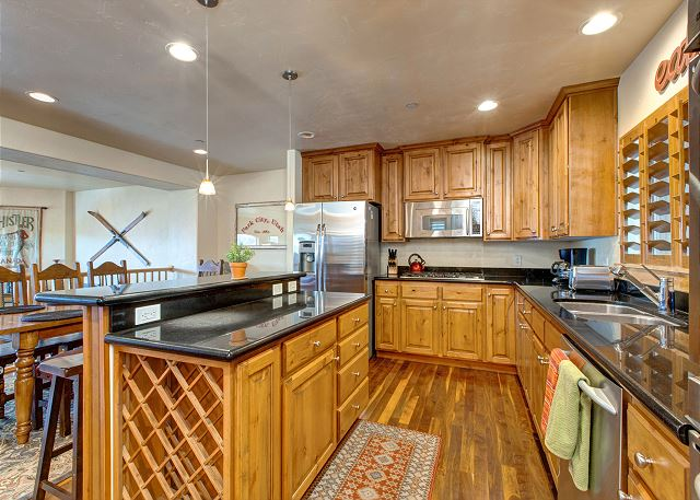 Fully Equipped Kitchen with Stainless and Granite - Deck off of Kitchen with BBQ and Hot Tub
