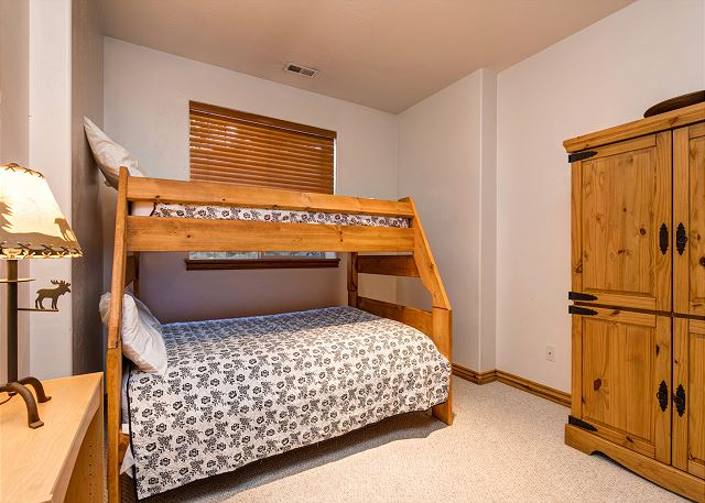 Lower Level Bedroom with Twin over Full Bunk Bed