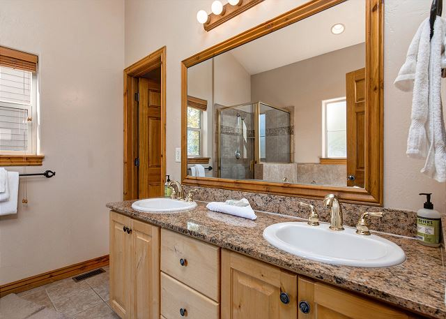 Master Bathroom with Separate Soaking Tub and Shower