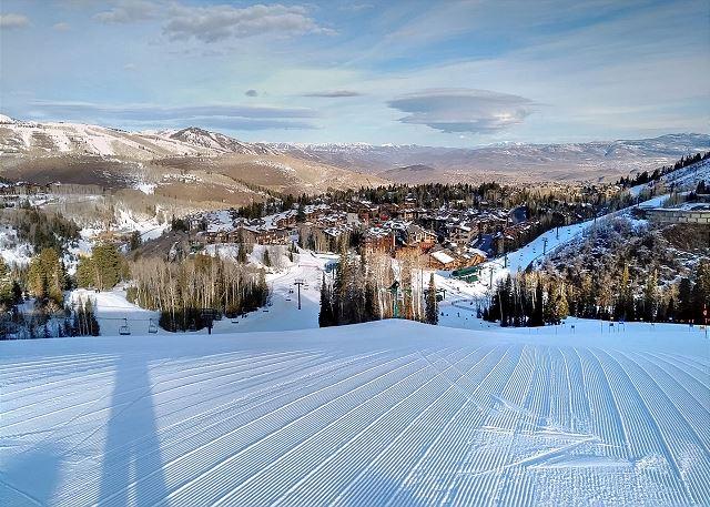 Deer Valley Ski Resort groomed runs