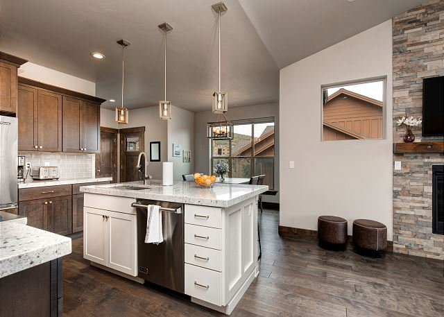 Fully equipped kitchen with high-end appliances