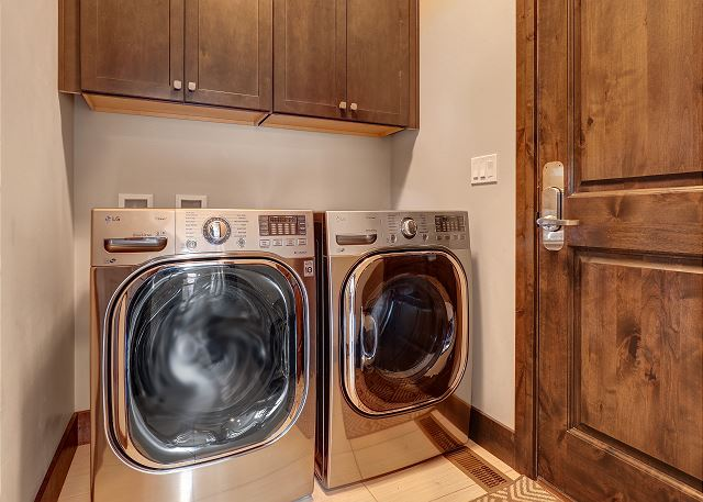 High Efficiency washer and dryer. In home laundry