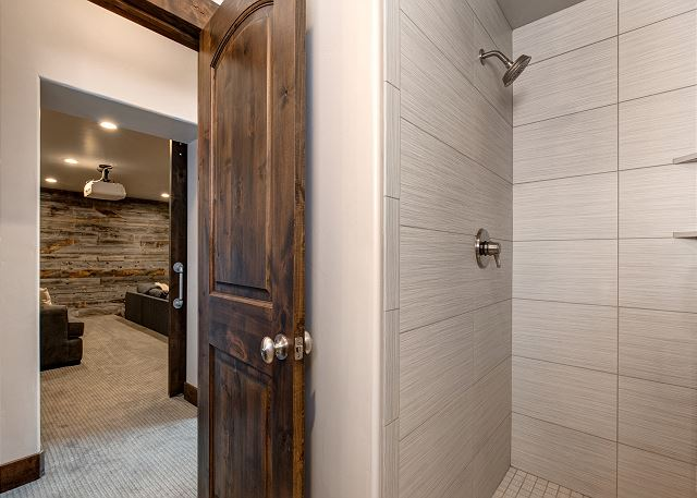 3/4 bathroom - lower level across from theater room