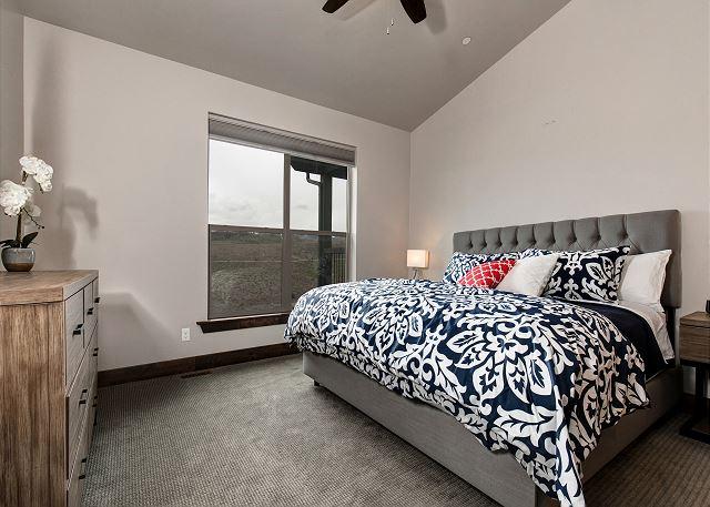Main level King master bedroom