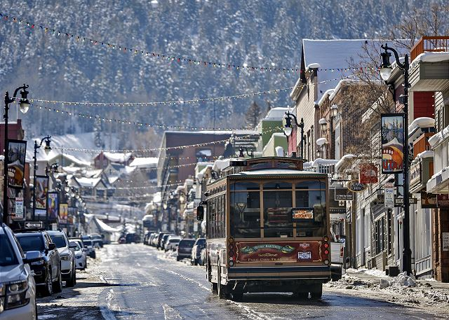 Park City's Historic Main Street. Ride the FREE Trolley