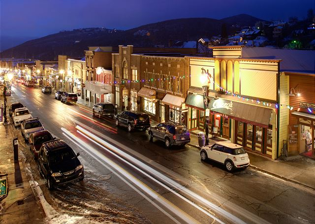 """Night Life"" Main Street, Park City, Utah"
