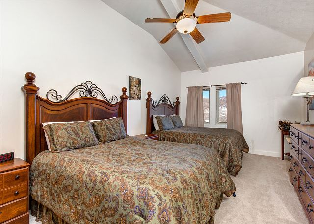 Upstairs Private Bedroom with TWO Queen Beds