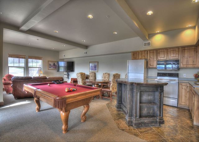 Fox Bay Clubhouse Kitchen and Game Room