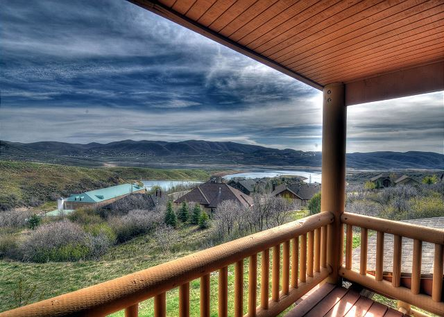 Balcony with Views of the Jordanelle Lake