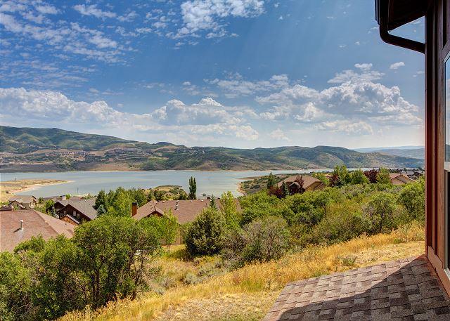 Views of the Jordanelle Reservoir.