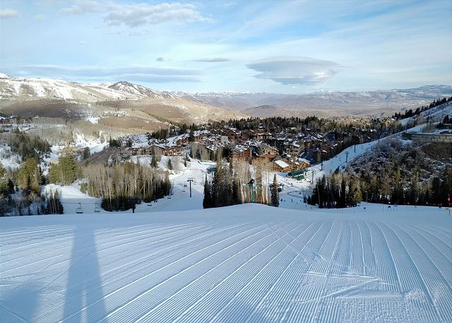 Perfectly Groomed Slopes at the Deer Valley Ski Resort