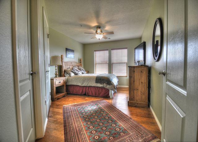Master Bedroom with En Suite Bathroom and TV