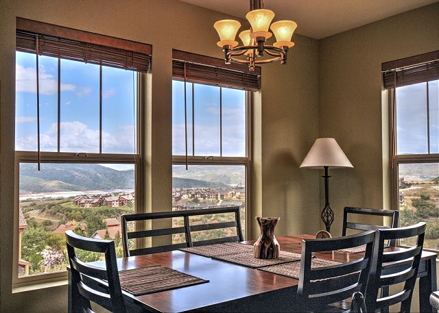 Dining Area with Large Windows and Amazing Views!