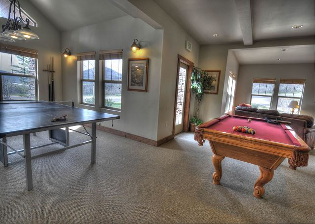 Clubhouse Pool and Ping Pong Tables