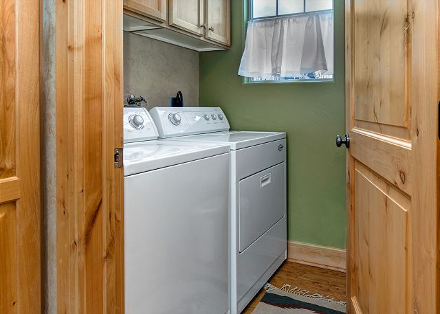 Main Level Laundry Room with Full Size Washer and Dryer