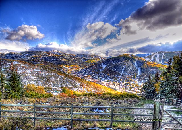 Park City Mountains in Fall with a dusting of snow as we welcome winter