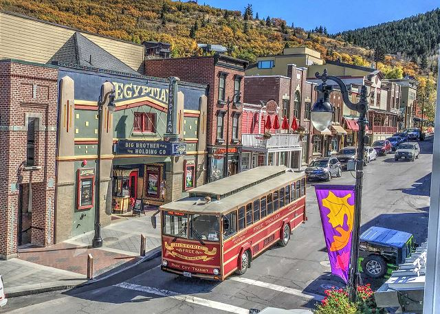 Ride the FREE trolley on Park City's Main Street
