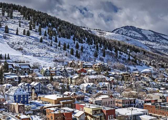 Wintertime in gorgeous Park City Utah