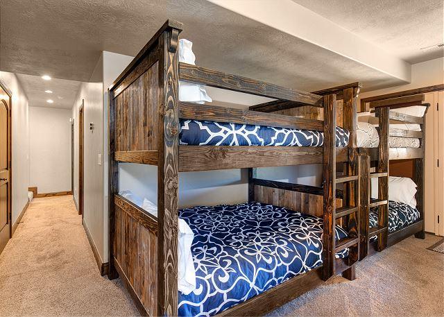Lower level TWO Full-over-Full bunks