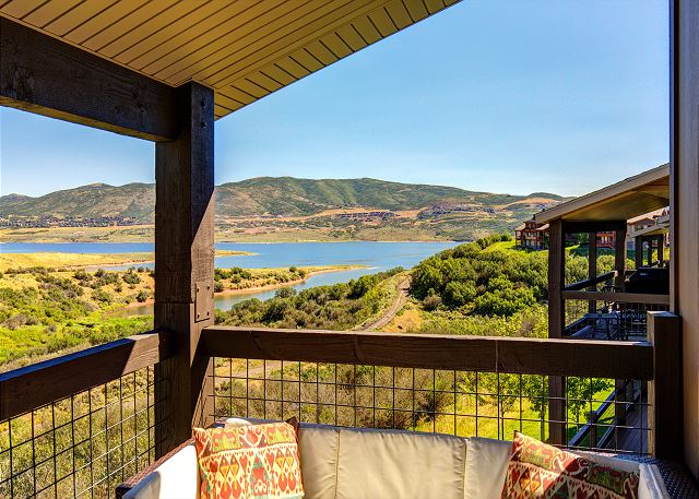 Balcony with Amazing views of the Lake!