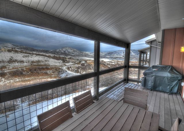 Main Level Balcony with BBQ and View