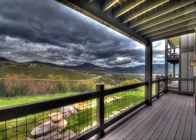 Main Level Balcony with BBQ and Views!