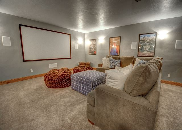 Theater Room with Sleeper Sofa