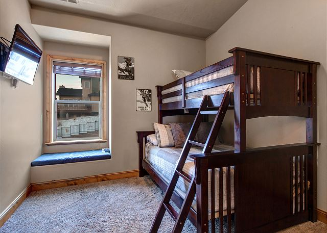 The 3rd bedroom sleeps three on a twin-over-full bunkbed