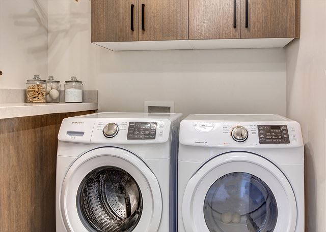Main Level Laundry Room with HE Washer and Dryer