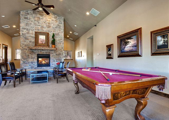 Community Clubhouse Pool Table