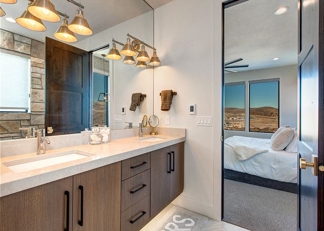 En Suite Master Bathroom with Separate Soaking Tub and Shower