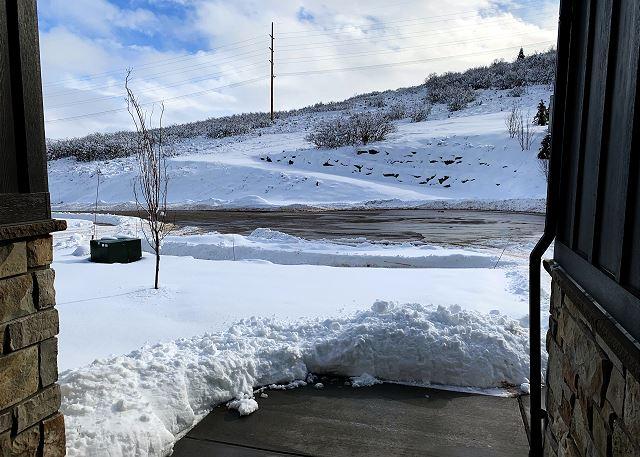 Jordanelle Estates 13201 Front Door Looking Out