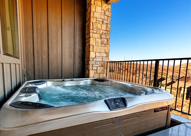 Private Hot Tub - Sunken into Deck