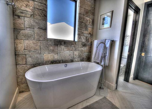 Master Bathroom Stand Alone Soaking Tub. Soak away your day!