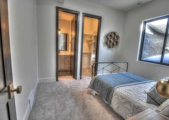 Lower Level Queen Bedroom with Private Bathroom and Walk-in Closet