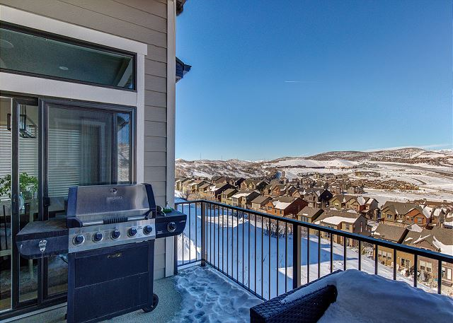 Deck Between Dining and Master with BBQ, Seating and Views!!