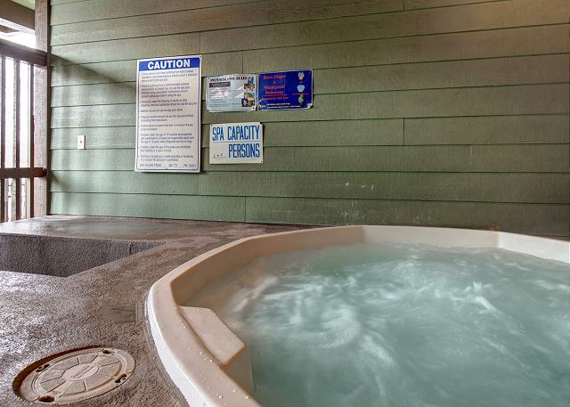 Moose Lodge Hot Tub (Winter)